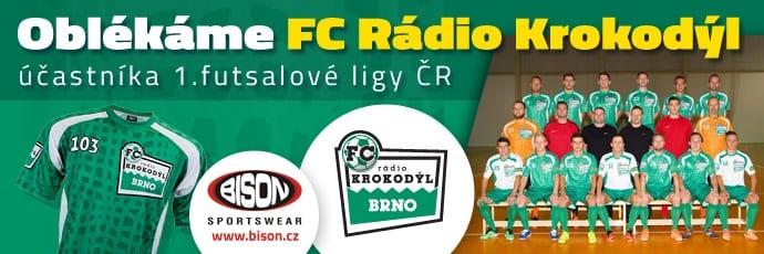 FC Rádio Krokodýl, účastník 1.futsaslové ligy v dresech Bison Sportswear.