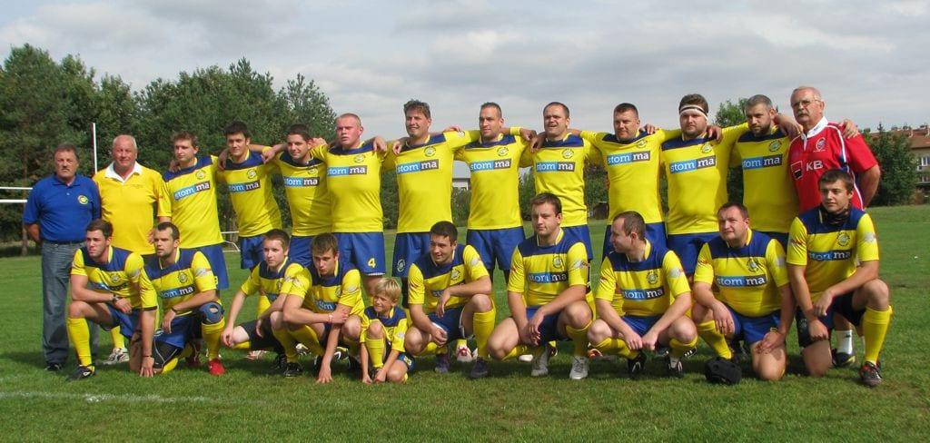 Ragby tým v dresech Bison Sportswear