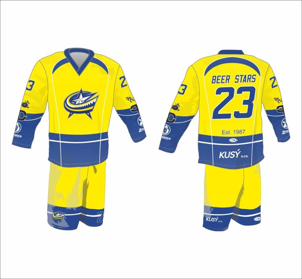 Galerie grafiky designů hokejbalových dresů výrobce Bison Sportswear