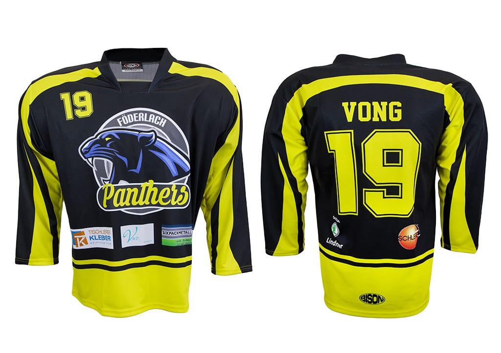 Originální design hokejových dresů z výroby Bison Sportswear.