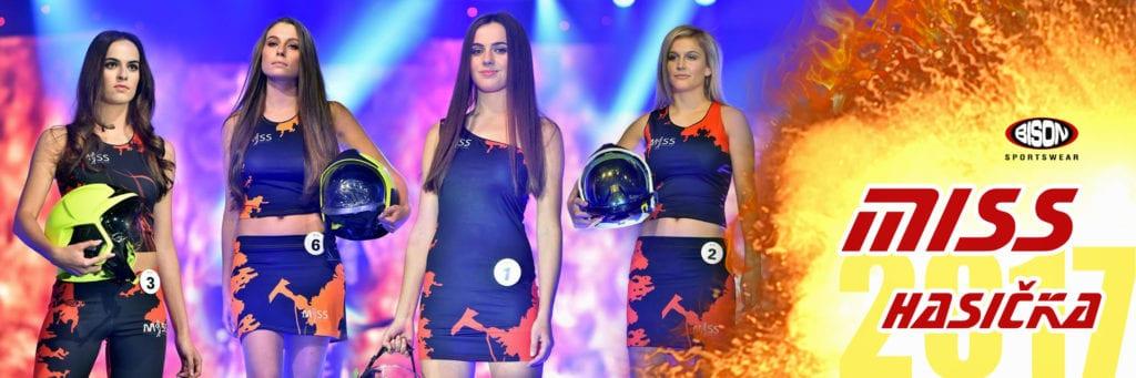 Finalistky Miss Hasička 2017 v oblečení Bison Sportswear.
