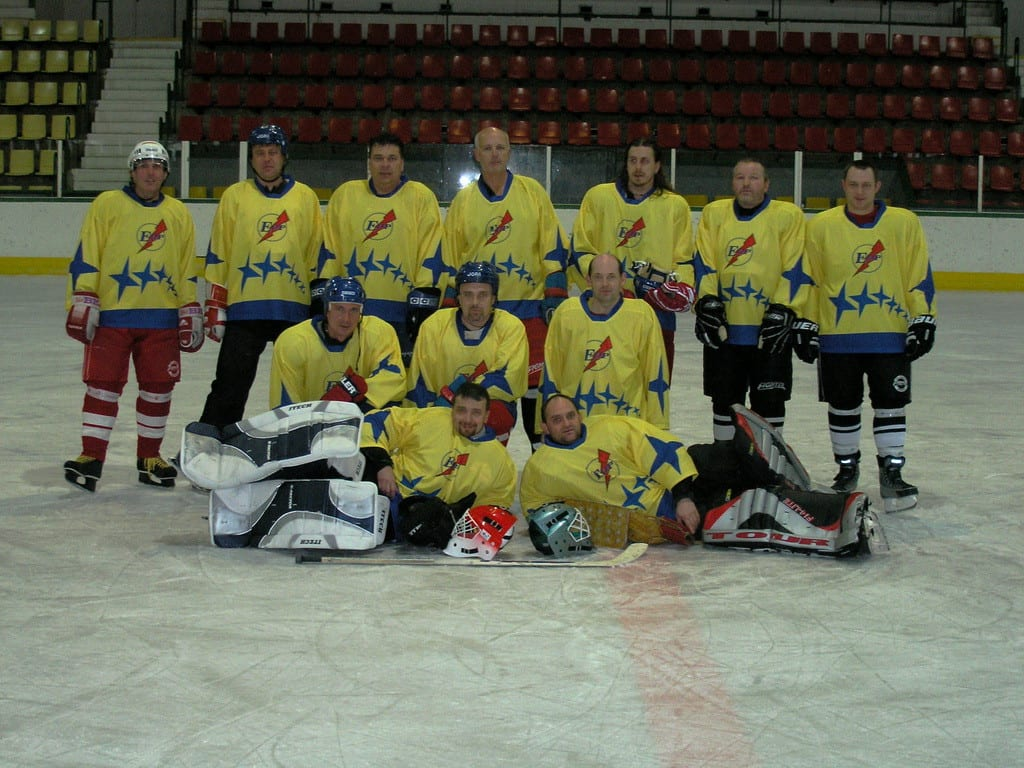 Hokejový tým v dresech od českého výrobce Bison Sportswear