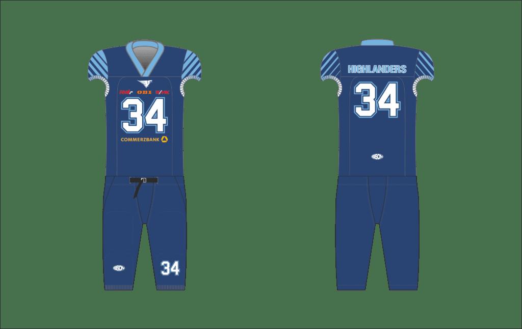 Návrh dresu na americký fotbal Bison Sportswear