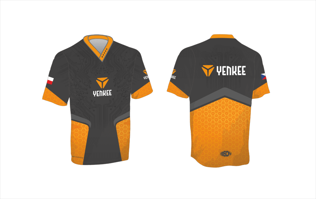 grafický návrh dresu na e-sport Bison Sportswear