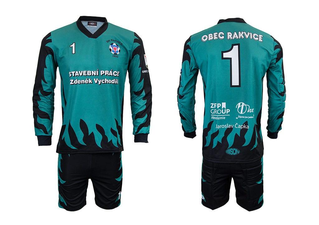 Fotbalový brankařský komplet - dres a trenýrky z výroby Bison Sportswear