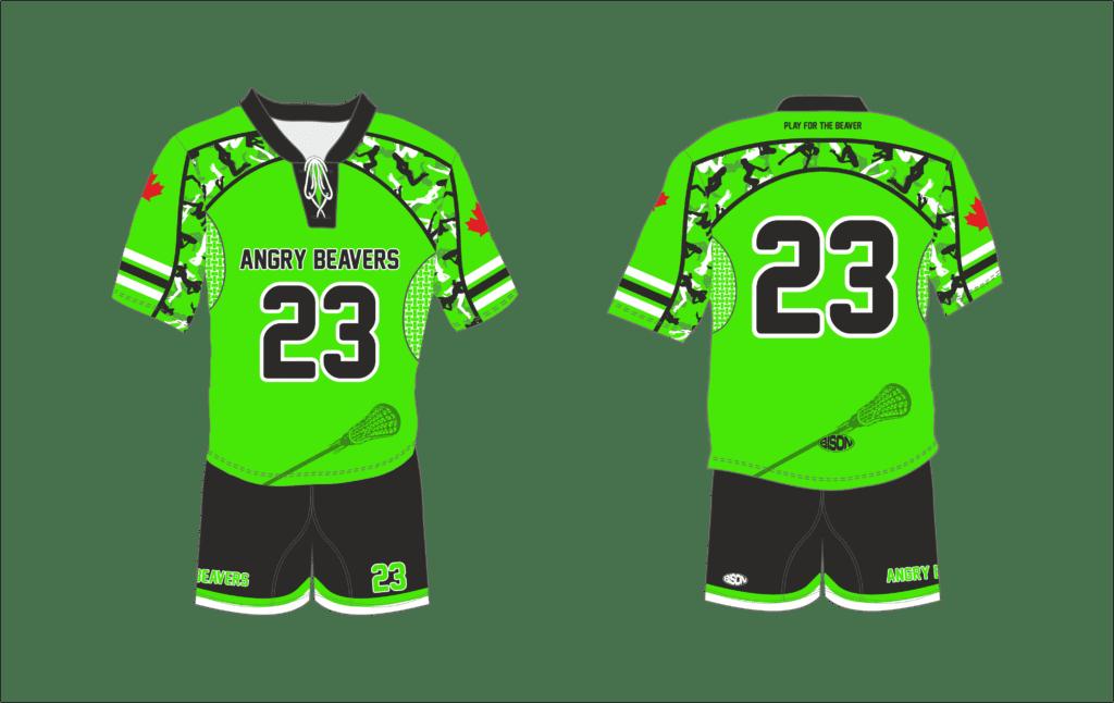 Návrh grafiky lakrosového dresu Bison Sportswear
