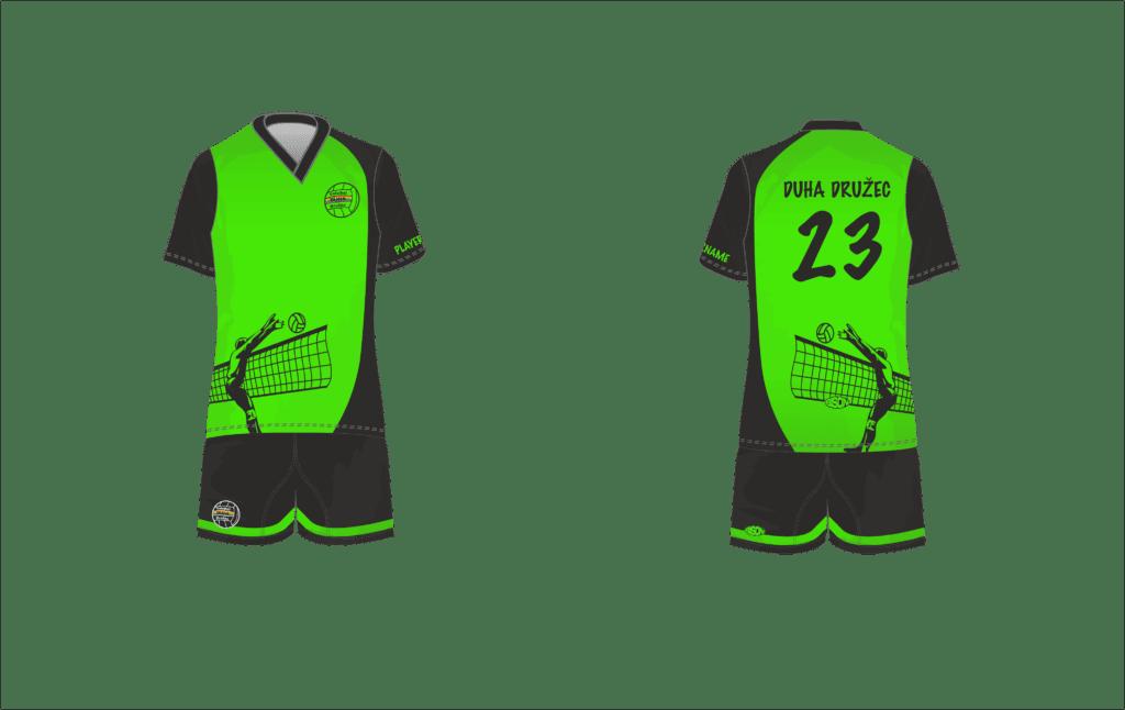grafický návrh volejbalového dresu Bison Sportswear