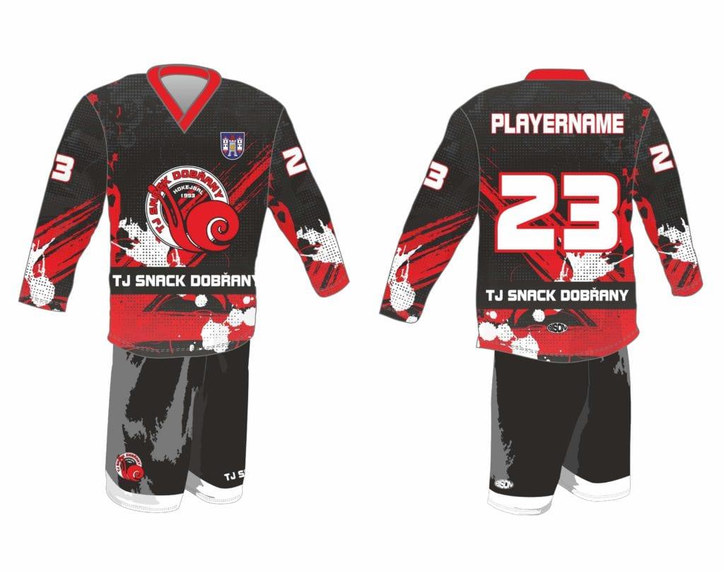 Galerie grafiky hokejbalových dresů výrobce Bison Sportswear