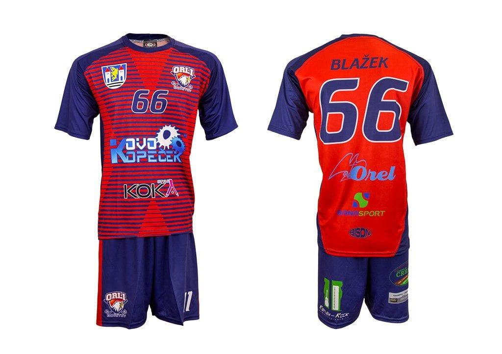 Florbalový komplet - výrobce Bison sportswear, výroba florbalových dresů a týmového oblečení.