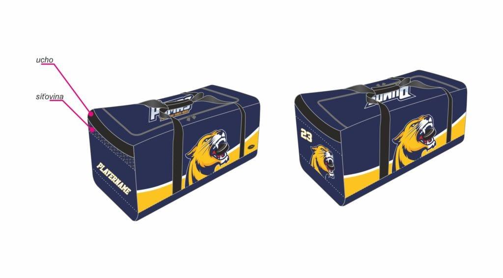 Sportovní týmová taška Bison Sportswear.