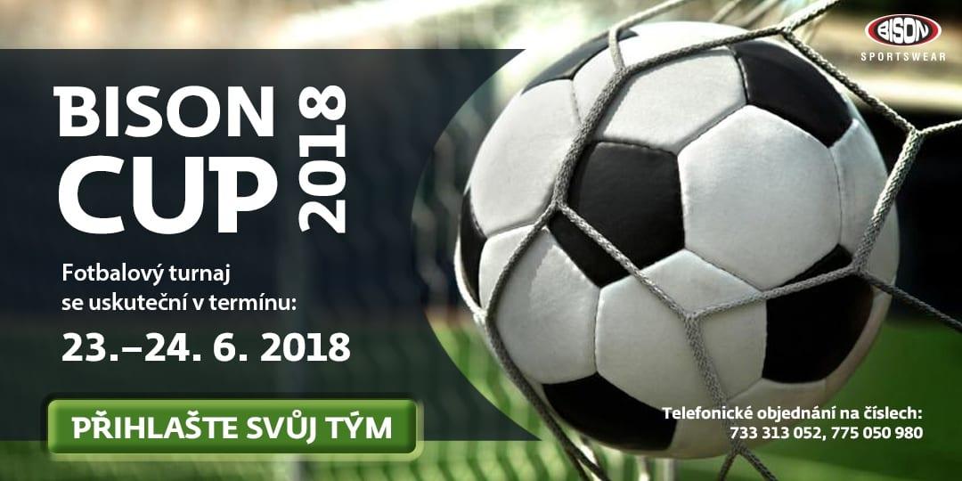 BISONCUP 2018 - tradiční fotbalový turnaj s podporou Bison Sportswear, s.r.o.