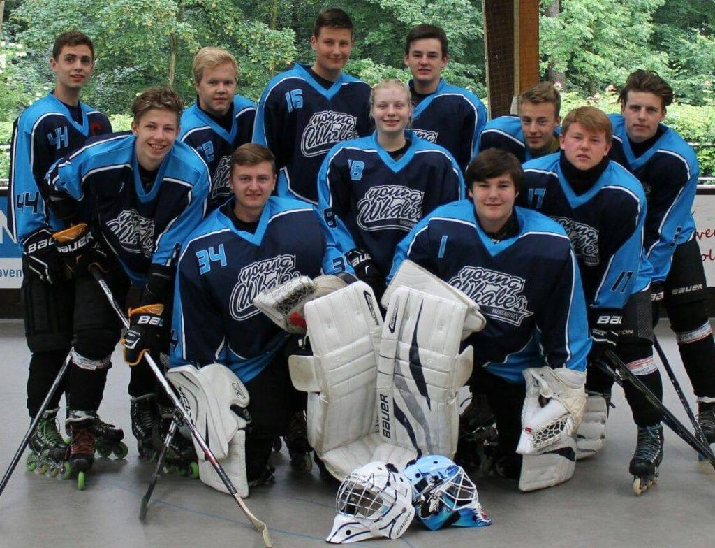 In-Line Hockey tým v dresech Bison Sportswear