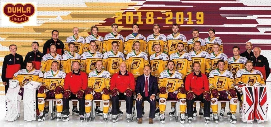 Hokejový tým v dresech Bison Sportswear
