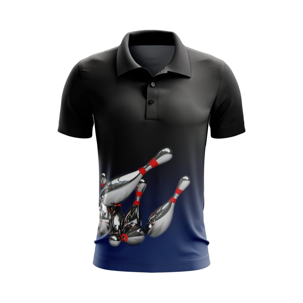 Grafický návrh dresu na kuželky a bowling