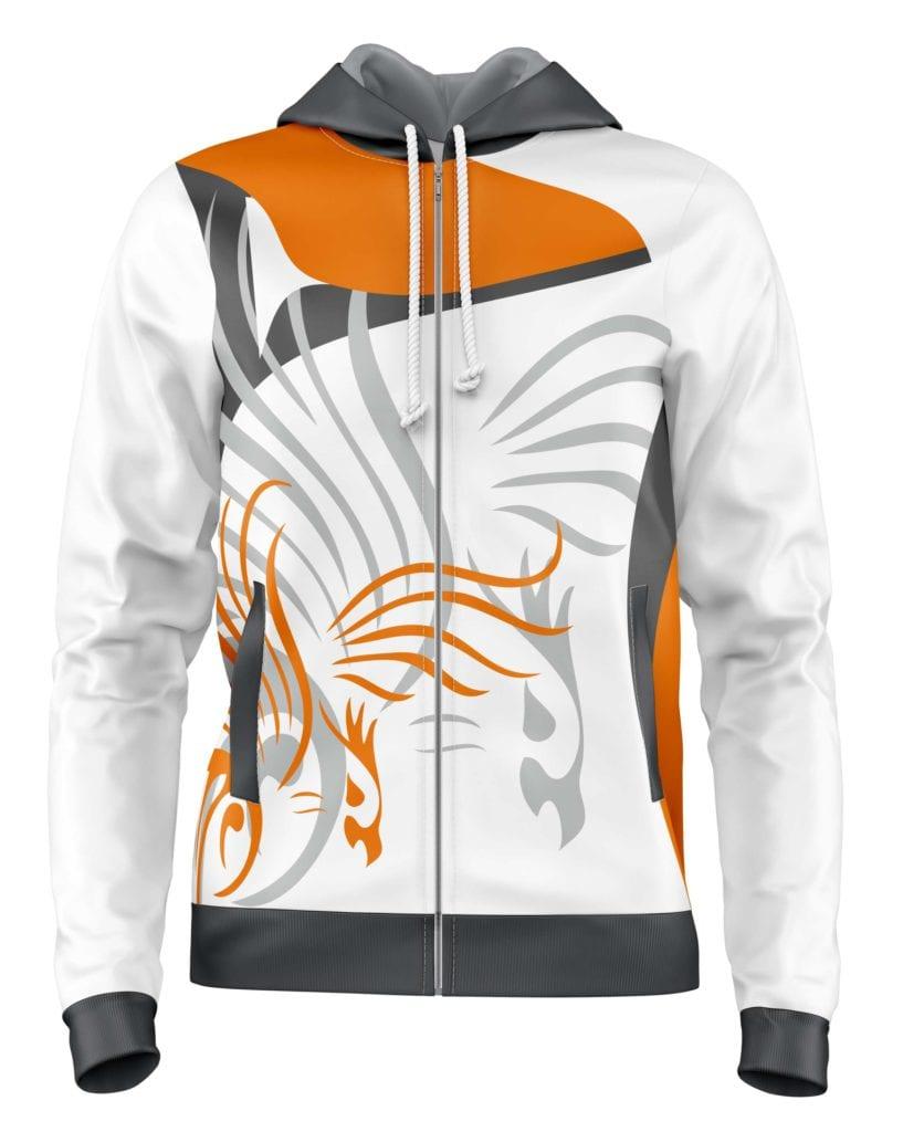 Grafický návrh týmové mikiny Bison Sportswear