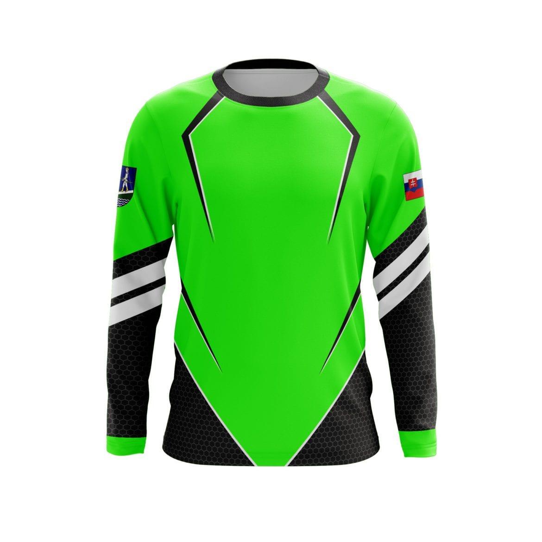 Reálný náhled grafiky dresu pro hasičský sport od Bison Sportswear.