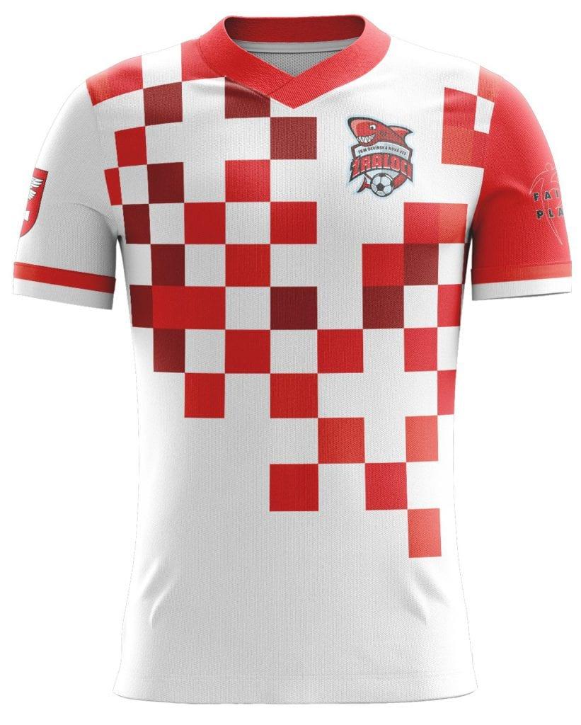 Reálný náhled grafiky fotbalového dresu Bison Sportswear.