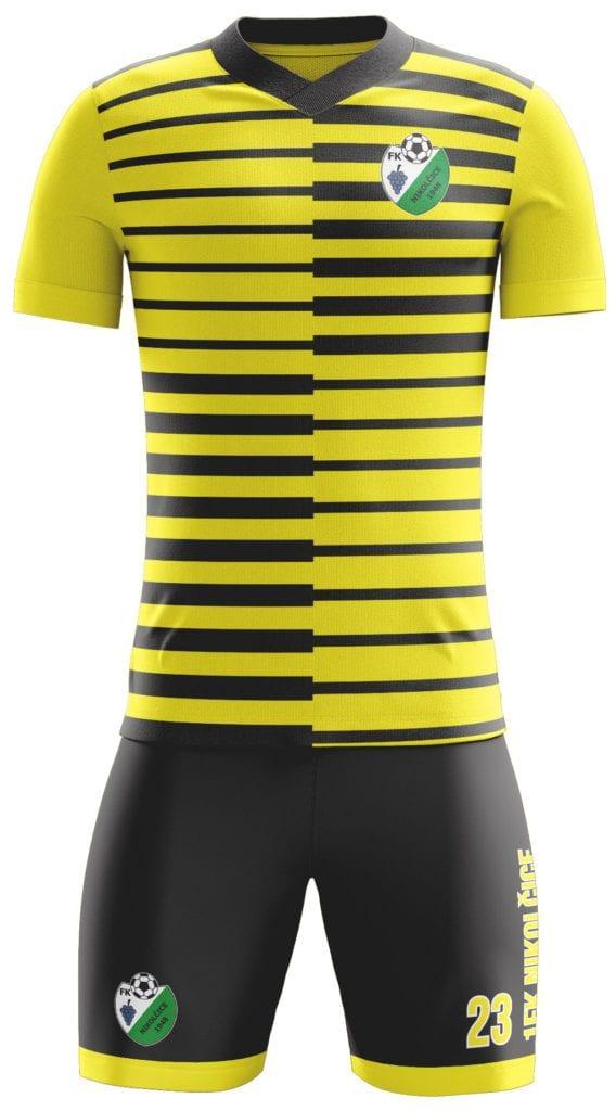 Reálný náhled grafiky fotbalového kompletu Bison Sportswear