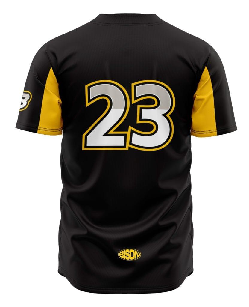 Návrh grafiky baseballového dresu z výroby Bison Sportswear.